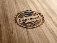 Lasercut / Engraved Wood Logo Mock-Up