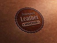 Leather Stamp Logo Mock-Up