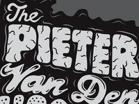 Illustrated typography for The Pieter Van Den Hoogen Band