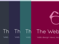 The Web Design Blog colour choices