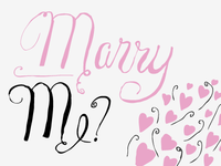 Marry Me? title design for a publication