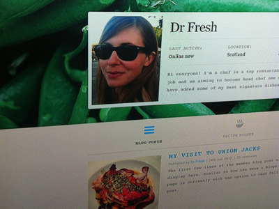 Dr Fresh - User Profile Page