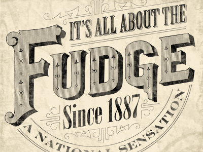 Fudge-dribbble