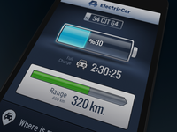 Electric Car Dashboard iPhone App
