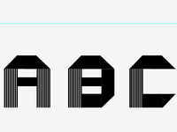 New Typeface! (Inspired by Folded Paper Font)