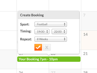 Booking Calendar Design