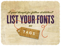 Listing your Fonts as Tags