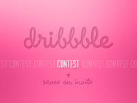 Dribbble invitation contest