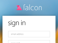 Falcon sign in