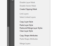 Paste and merge layer styles