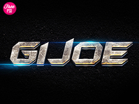 G.I. Joe Movie FREE Photoshop Layer Style