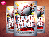 Baseball PSD Flyer Template