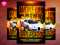 Woke in a New Bugatti PSD FLYER