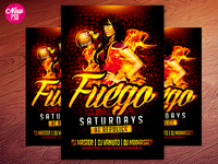 Fuego Saturdays PSD Flyer Template