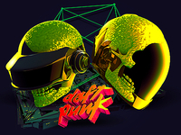 messing around with Cinema4d - Daft Punk