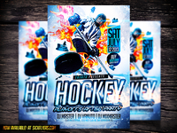 Hockey PSD Flyer Template