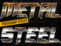 Metal Photoshop Layers Styles V5