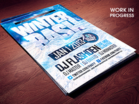 Winter Bash PSD flyer template .