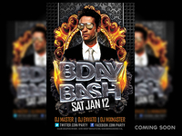Bday Bash PSD Flyer Coming soon