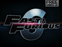 Fast & Furious Cinema 4D movie Title Free