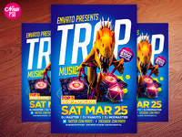 Trap Music PSD Flyer