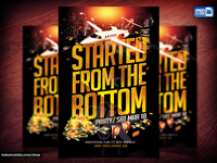Started From The Bottom PSD Flyer