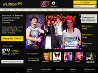Zicmeup Redesign - Homepage