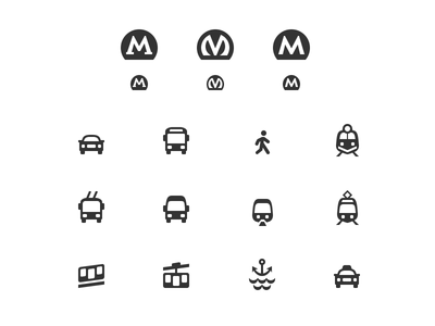 City Transport Icons