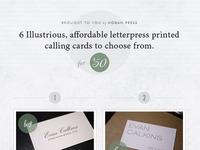 Letterpress Calling Card Site