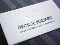 George Polyard Monogram Card