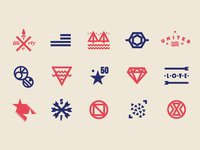 some trendy hipsterish symbols