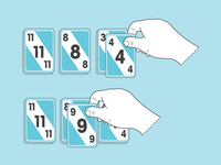 Skipbo Instruction Illustration
