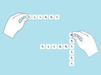 Scrabble Instruction Illustration