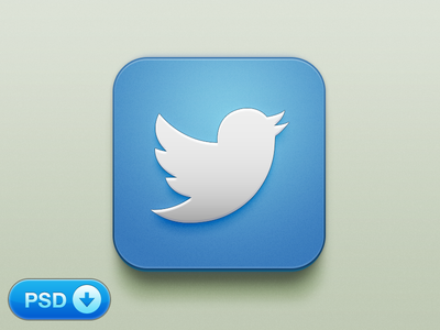 Download Beautiful Twitter iOS Icon [+PSD]