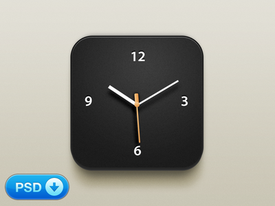 Clock iOS Icon [+PSD]