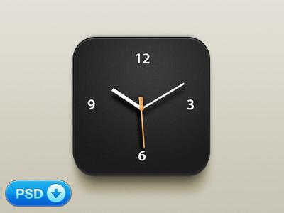 Download Beautiful Clock iOS Icon