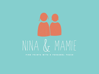 Nina and Mamie logo development