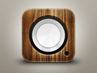 Wood Speaker iOS Icon