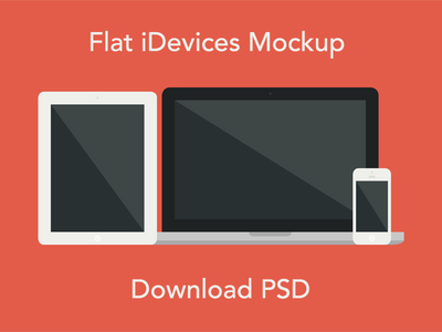 Download Flat iDevices Mockup PSD