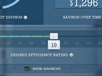 Energy Savings Calculator - Efficiency Slider