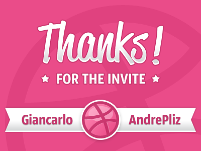 Dribbble-thanks