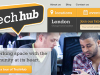 TechHub Homepage in progress