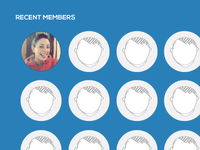 Recent members footer widget