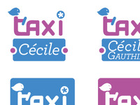 WIP logo for a taxi girl