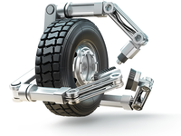 Tire & Wheel - Service Robot Icon 3d