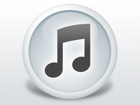 White iTunes Icon