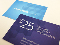 Shapeways Gift Card