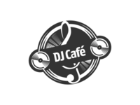 DJ Cafe Logo Design