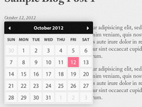 Date Picker for Blog Posts