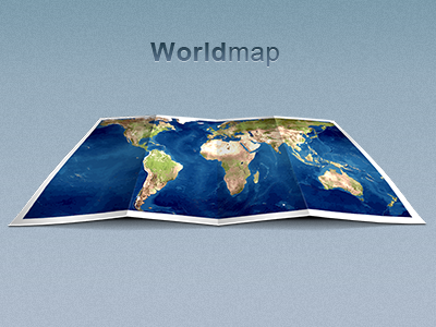 Worldmap-folded-dribbble